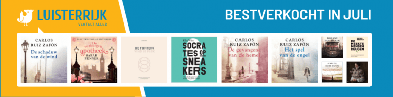 Bestverkochte luisterboeken in juli 2021 bij Luisterrijk