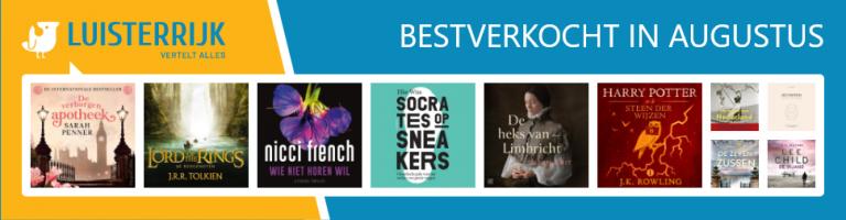 Bestverkochte audioboeken in augustus